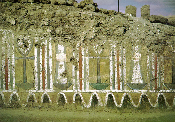 Decoración del dormitorio de Amenhotep III, Malkata, arquitectura antiguo Egipto, Sandra Pajares, Bajo las arenas de Kemet