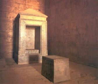 Sanctasanctórum del templo de Horus en Edfu