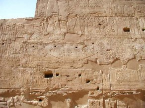 Grabados de Tutankhamón de la festividad de Opet, Luxor. Bajo las arenas de Kemet, Arquitectura antiguo Egipto