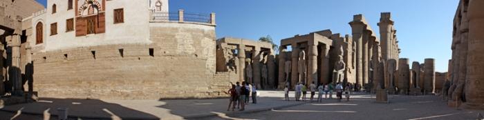 Patio de Ramsés II, Luxor. Bajo las arenas de Kemet, Arquitectura antiguo Egipto