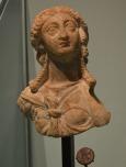 """Retrato de reina ptolemaica, s. II a.C. [Img. Sandra Pajares] Exposición """"Cleopatra y la fascinación de Egipto"""""""