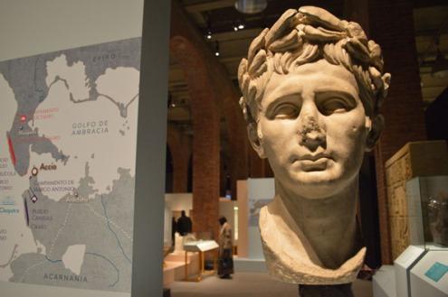 """Retrato de Augusto, s. I d.C. [Img. Sandra Pajares] Exposición """"Cleopatra y la fascinación de Egipto"""""""