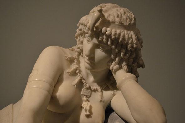 """Cleopatra de Girolamo Masini [Florencia, 1840 – 1885]. Mármol. [Img. Sandra Pajares] Exposición """"Cleopatra y la fascinación de Egipto"""""""