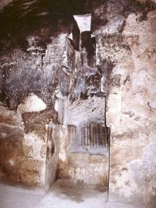 Nicho de la cámara de la reina de la Gran Pirámide de Keops, Khufu, Guiza. Bajo las arenas de Kemet. Arquitectura antiguo Egipto