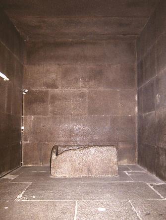 La cámara del rey de la Gran Pirámide de Keops [Khufu], Guiza. Bajo las arenas de Kemet. Arquitectura antiguo Egipto
