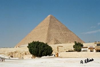 La Gran Pirámide de Keops. Cartucho con el nombre de Keops [Khufu], Guiza. Bajo las arenas de Kemet. Arquitectura antiguo Egipto