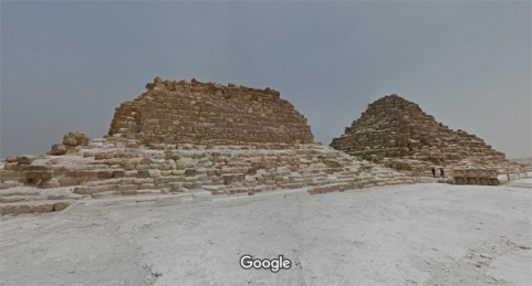 Las pirámides de Meritites y Henutsen, Guiza. Complejo funerario Keops, Khufu. Bajo las arenas de Kemet. Arquitectura antiguo Egipto