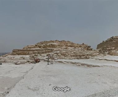 Pirámide de Hetepheres I , Guiza. Complejo funerario Keops, Khufu. Bajo las arenas de Kemet. Arquitectura antiguo Egipto
