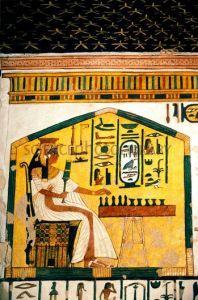 Nefertari jugando al senet, tumba nefertari qv66, Schiaparelli, Bajo las arenas de Kemet, antiguo Egipto