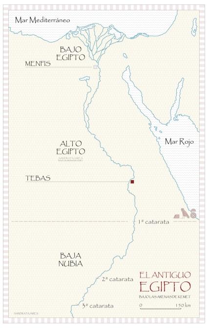 Mapa de Egipto, Medinet Habu, templo funerario Ramsés III, arquitectura antiguo Egipto, plano Sandra Pajares, Bajo las arenas de Kemet