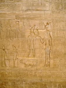 Horus derrotando a Seth en el templo de Edfu, arquitectura antiguo Egipto, Bajo las arenas de Kemet