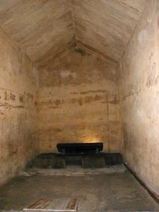 Cámara funeraria de la pirámide de Kefrén [Khaefre]. Complejo funerario de Kefrén [Khaefra]. Bajo las arenas de Kemet. Arquitectura antiguo Egipto