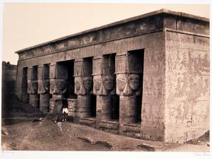 El templo de Dendera fotografiado por Francis Frith, 1857, arquitectura antiguo Egipto, Bajo las arenas de Kemet