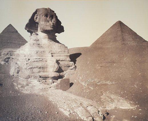La Esfinge de Guiza, fotografía de A. W. Elson & Co (Boston) [ca. 1889]. Complejo funerario de Kefrén [Khaefra]. Bajo las arenas de Kemet. Arquitectura antiguo Egipto