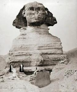 La Esfinge de Guiza fotografiada por los hermanos Zangaki, circa 1880